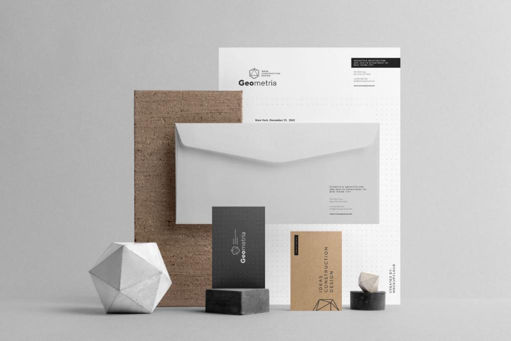 高端企业品牌VI设计PSD样机贴图模版Company Branding Mockup