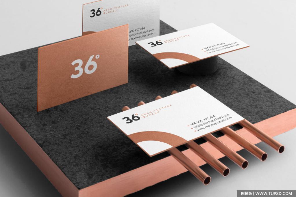 整套高端金色品牌VI样机贴图效果图Copperstone Branding Mockup