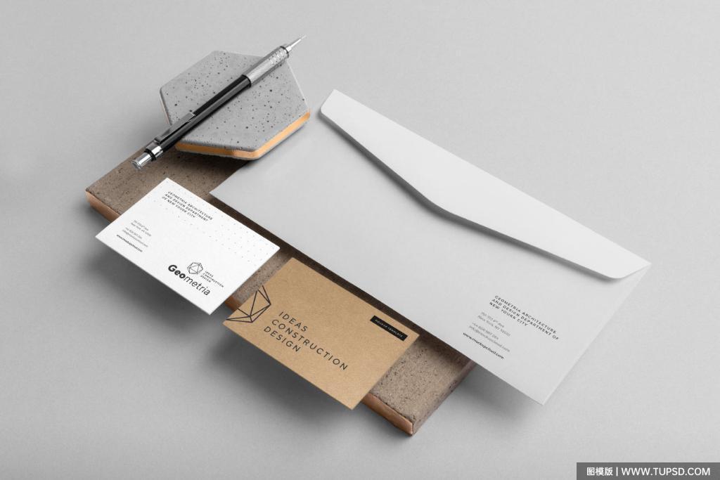 大气企业品牌VI设计PSD样机贴图模版Company Branding Mockup