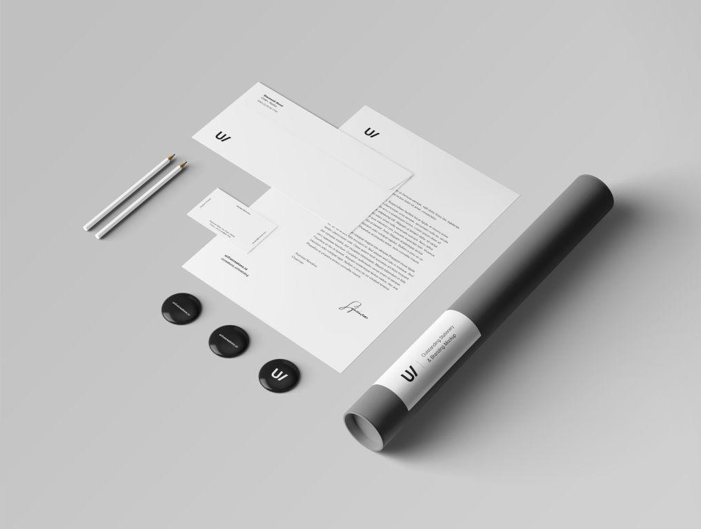 简约品牌VI视觉PSD样机贴图identity stationery mockup set