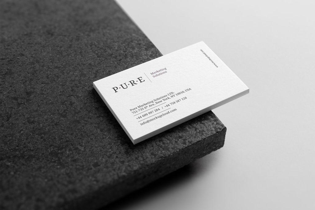 小清新企业办公文具品牌VI视觉PSD样机贴图模版pure branding mockup