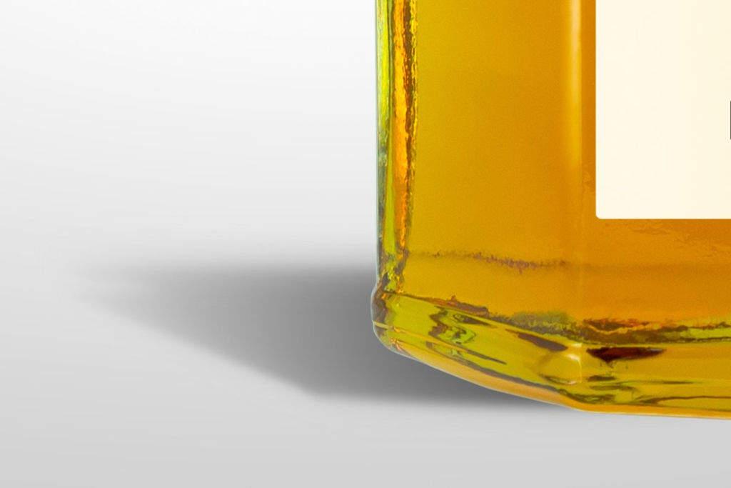 透明蜂蜜包装PSD样机贴图模版Honey Jar mockup