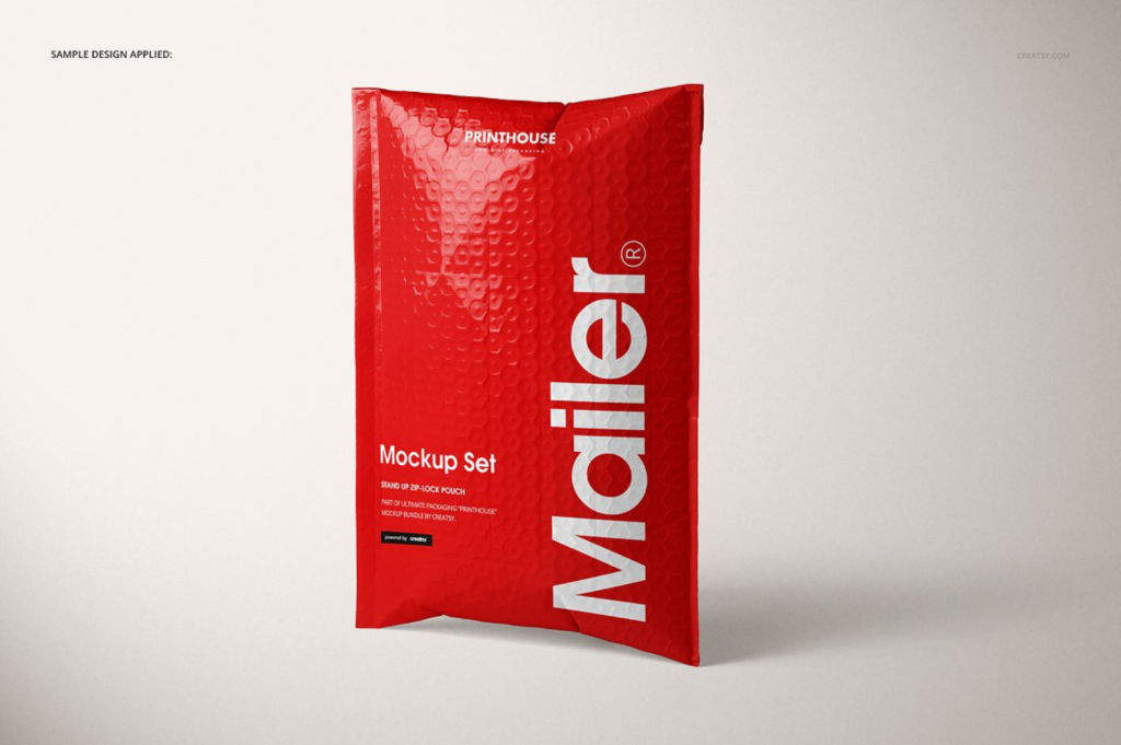 气泡袋快递袋PSD分层样机贴图模版Bubble Mailer Mockup Set