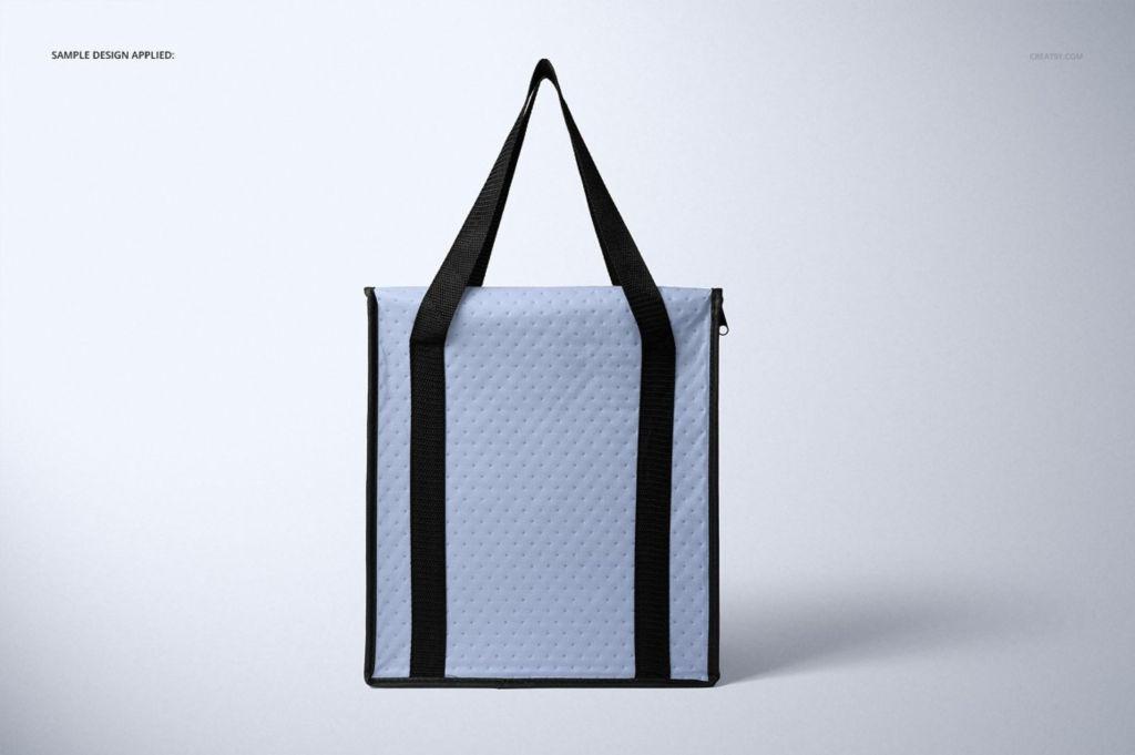 餐饮外卖保温手提袋PSD样机贴图模版Insulated Cooler Bag Mockup Set