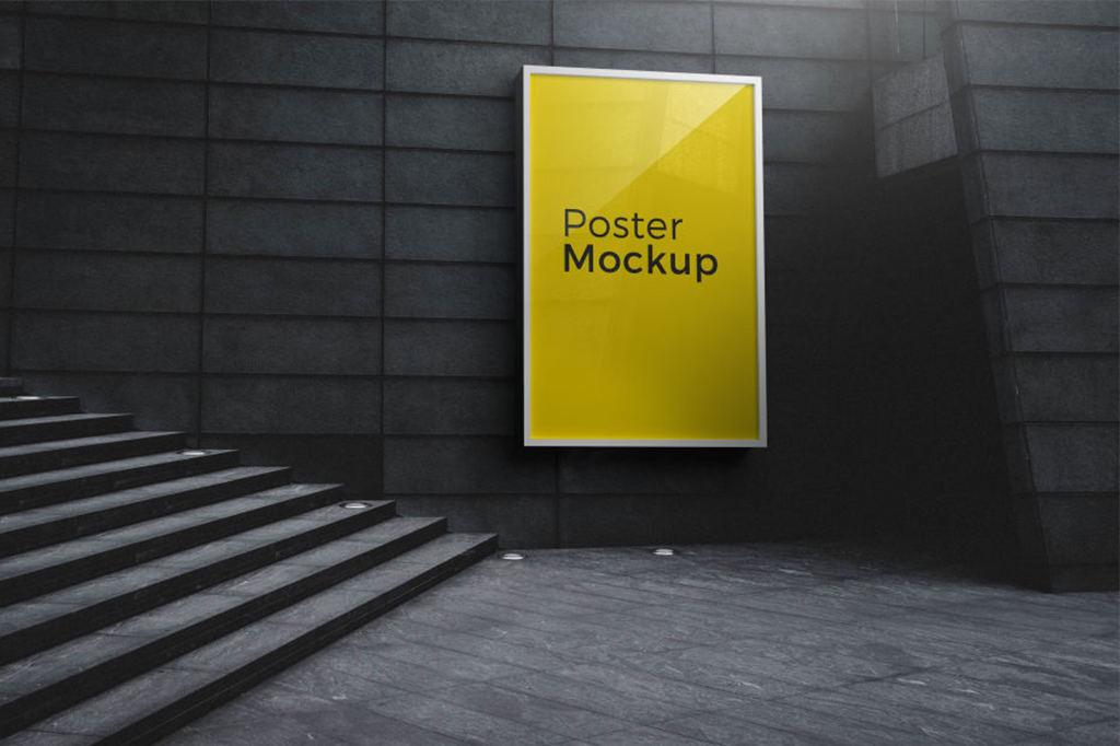 户外广告海报灯箱PSD分层样机贴图Poster And Billboard Mockups
