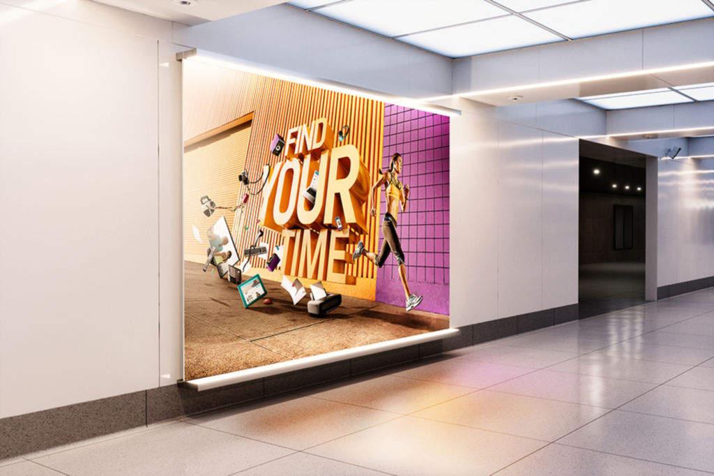 室内广告牌灯箱海报样机PSD分层贴图模版Billboard Mockup Ad Station Series