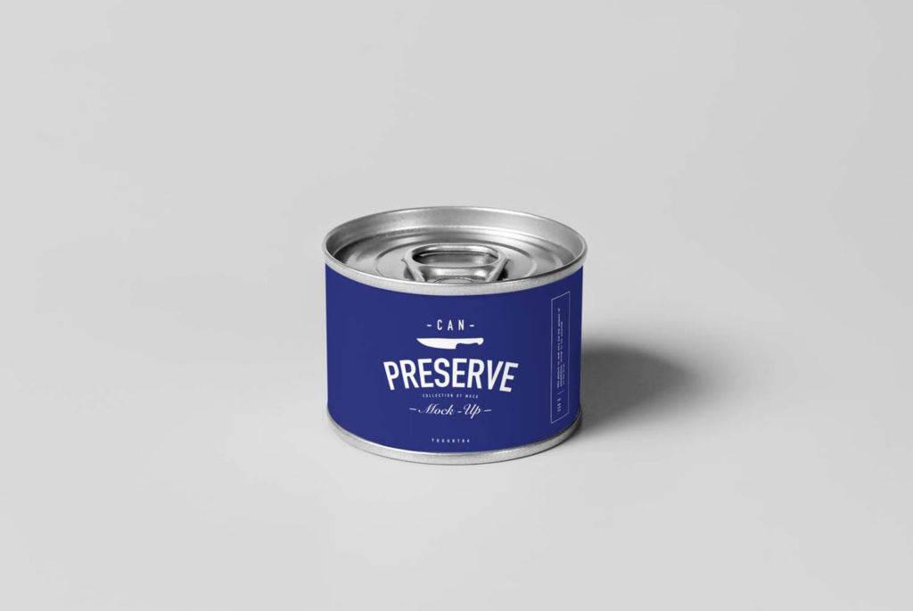 多尺寸食品铁罐易拉罐样机PSD分层贴图can preserve mockup