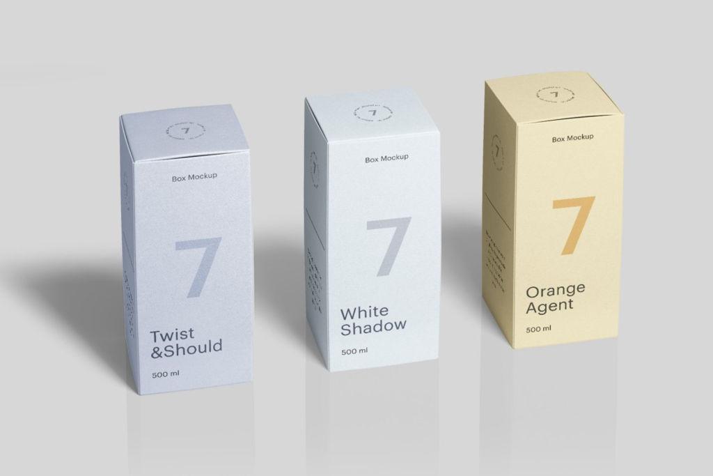 多角度真实质感包装纸盒样机PSD分层贴图模版 Box Mockup vol.4