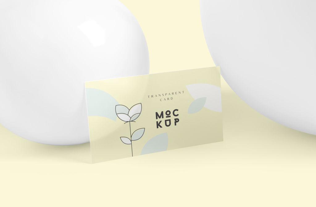 多角度透明名片样机PSD分层贴图模版Transparent Card Branding Mockups