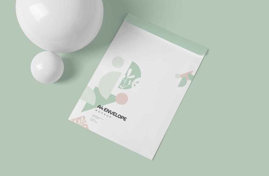 A4办公信纸样机PSD分层贴图模版A4_Size_Paper_Envelope_Mockups_