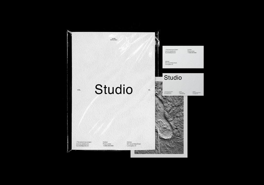 高级文件夹文具品牌VI样机PSD分层贴图模版Folder Stationery Branding Mockup