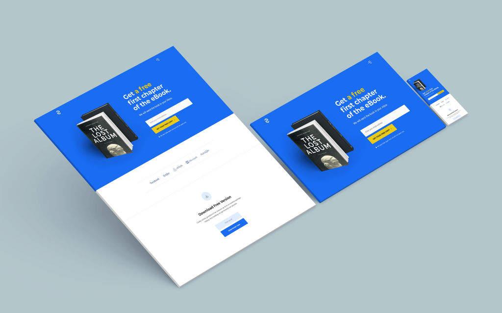 响应式网站页面样机PSD分层贴图模版Responsive Website Mockup 1.0