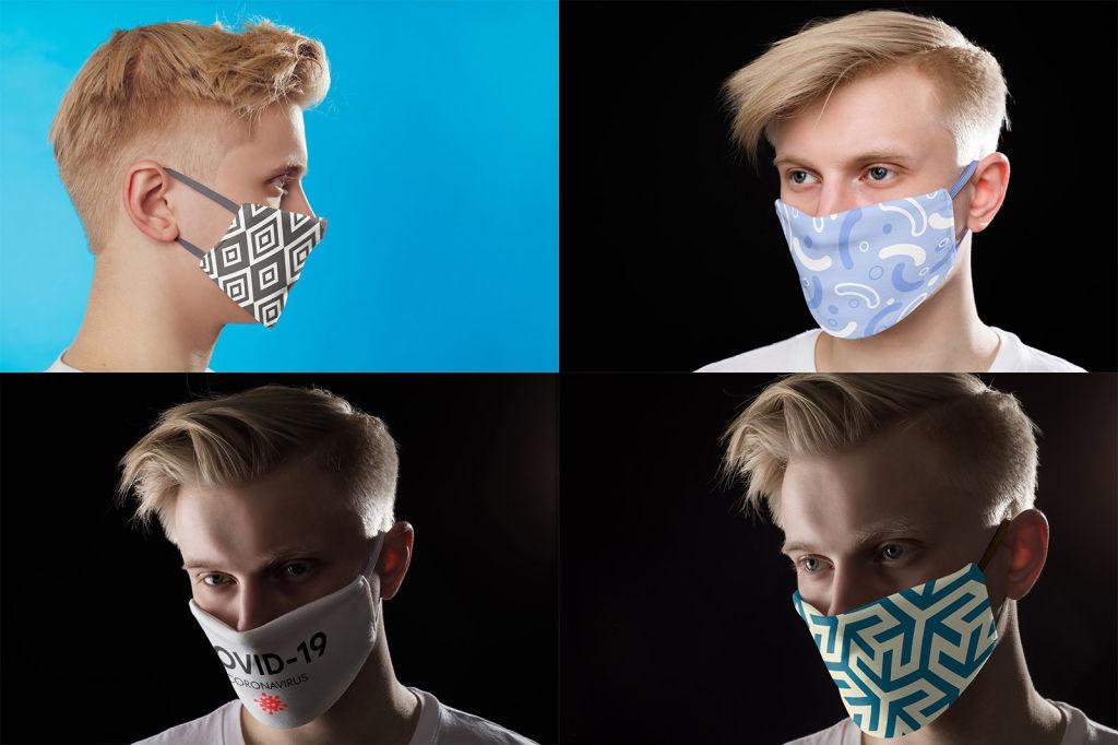 医用口罩样机PSD分层贴图模版Medical Mask Mock-Up Set