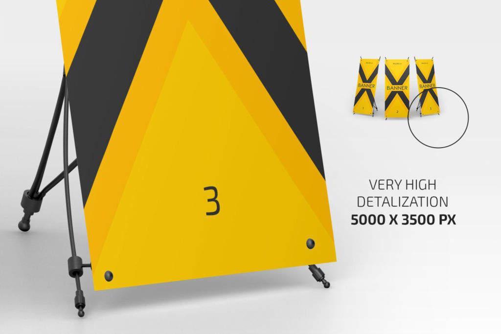 x展架海报样机PSD分层贴图模版X Banner Mockup Set