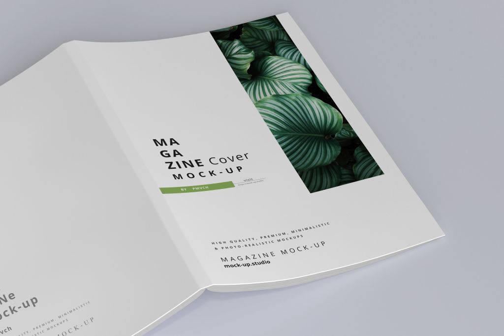 高端杂志书籍设计画册样机PSD贴图模版Magazine Mock ups