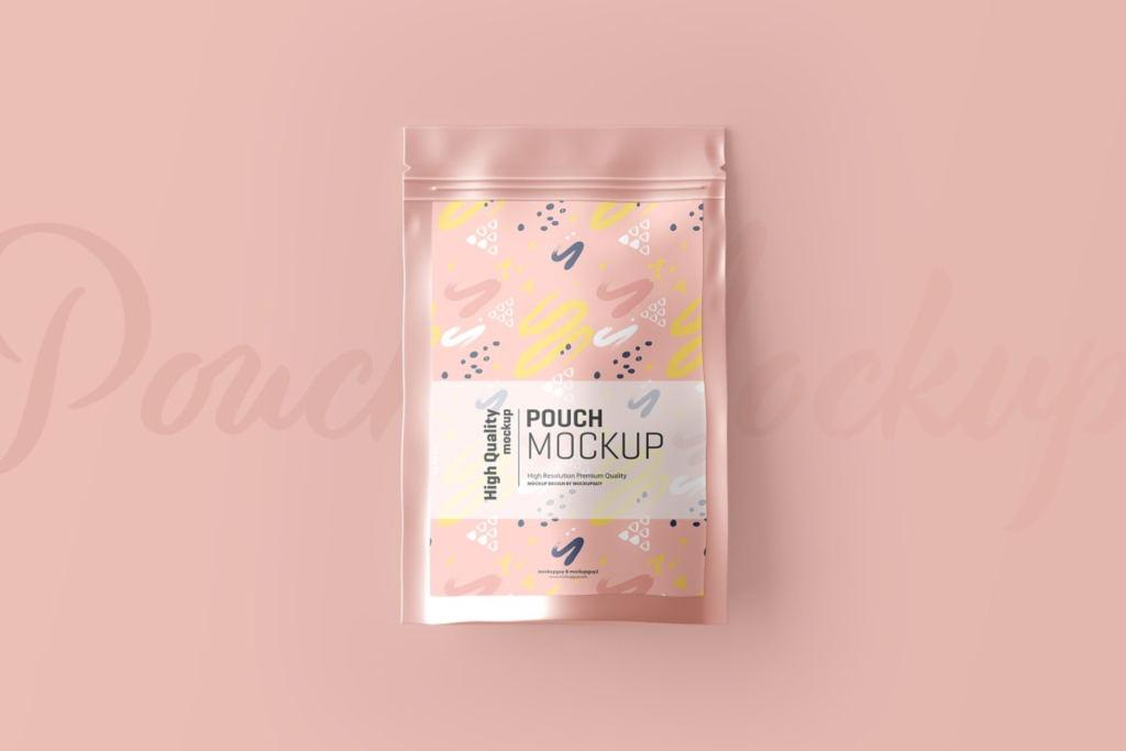 铝箔袋食品包装样机展示ps素材模板贴图Stand Up Pouch Mockup