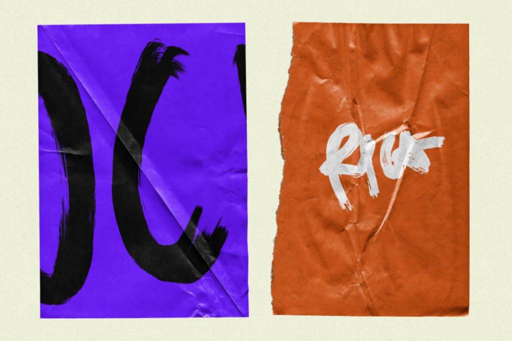 50种复古逼真褶皱纹理撕裂纸张效果样机png素材模板Wrinkle Paper Mockup Vintage