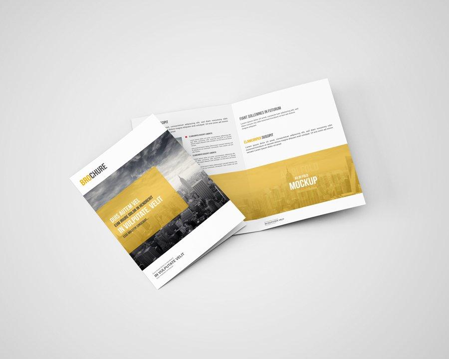 A4双折页样机psd素材效果图模板A4/A5 BI-FOLD BROCHURE MOCKUP