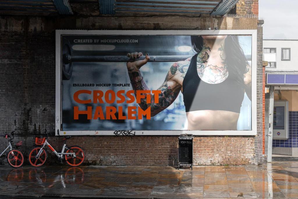 高质感户外街头广告展示海报样机ps素材贴图模板Billboards and posters mockup