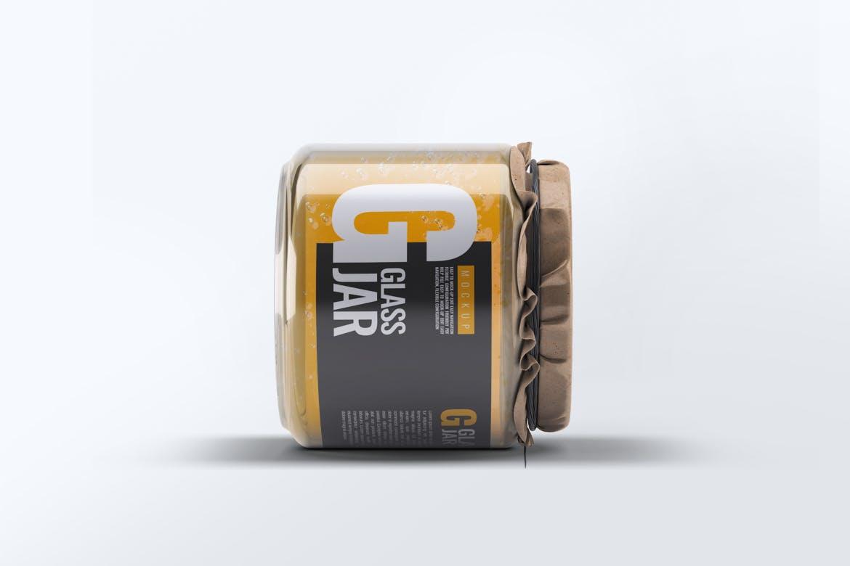6款逼真食品罐头蜂蜜包装玻璃罐样机ps贴图素材 Glass Jar Mock-Up v.1
