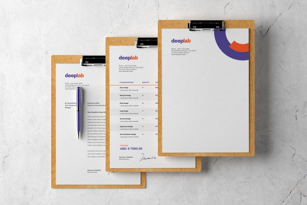 10款办公用品品牌展示VI样机ps素材智能贴图模板 Clipboard Branding Mockup Set