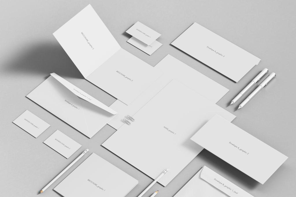 商务办公用品品牌VI样机ps素材智能贴图模板Stationary Branding Mock-up 9