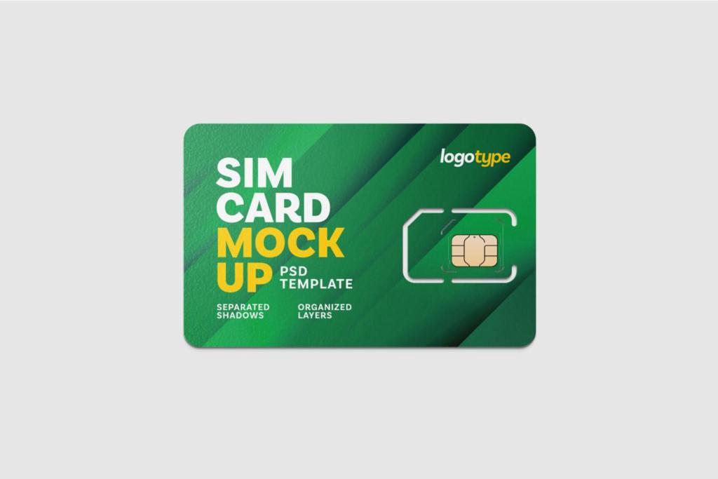 手机SIM卡VIP会员磁卡样机ps素材贴图 Sim Card Mockup Set