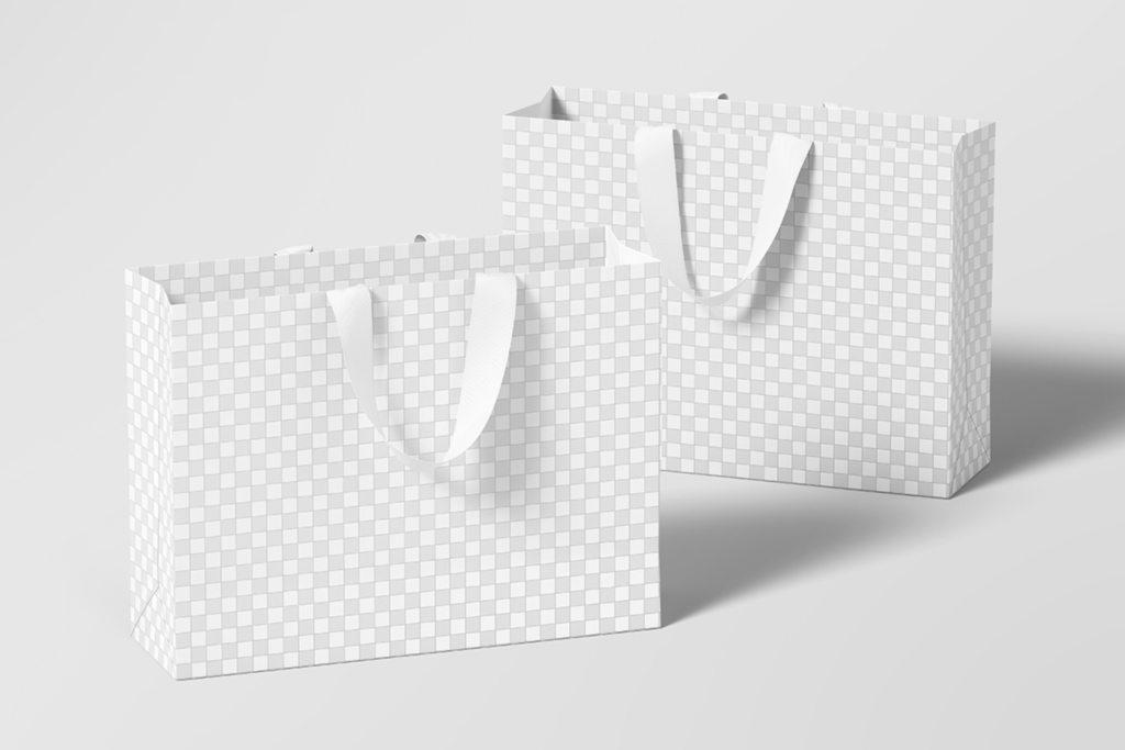 高品质购物手提纸袋样机psd贴图模板Large Shopping Bag Mockup