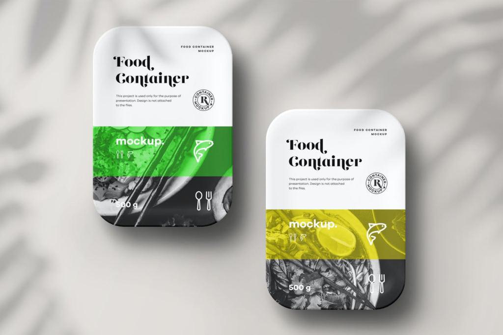 7款逼真食品水果外卖包装盒样机ps贴图模板 Food Container Mock-up